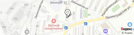 Блеск-Н на карте Находки
