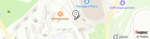 Мебелёво на карте Находки
