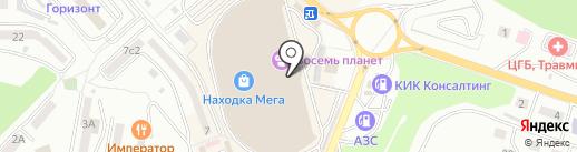 Магазин по продаже наномороженого на карте Находки