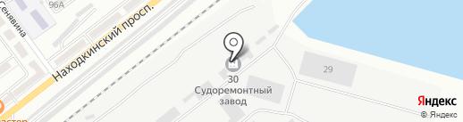 Лазурная-2, ЗАО на карте Находки