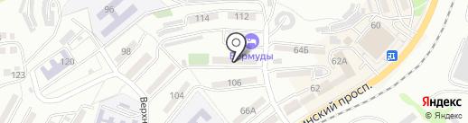 Акварель на карте Находки