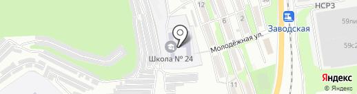 Средняя общеобразовательная школа №24 на карте Находки