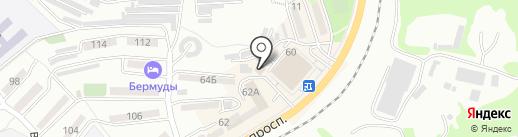 Витос на карте Находки