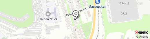 Гостиница на Молодёжной на карте Находки