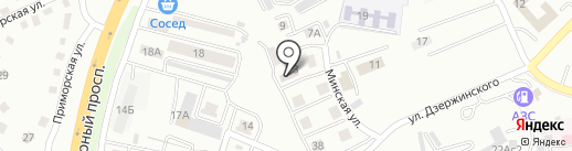 Эстела на карте Находки