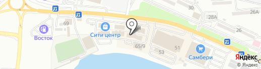 Сити сувенир на карте Находки