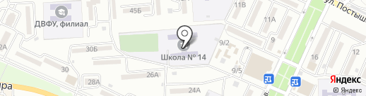 Средняя общеобразовательная школа №14 на карте Находки