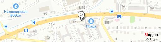Корвет на карте Находки
