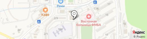 Банкомат, АКБ РОСБАНК на карте Находки