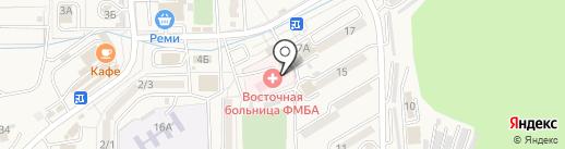 Восточная больница ФГБУЗ ДВОМУ ФМБА России на карте Находки