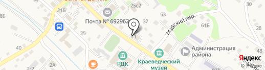 Золотая долина на карте Владимиро-Александровского