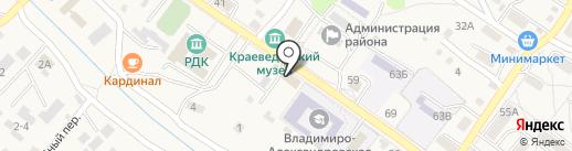 Партизанский районный суд на карте Владимиро-Александровского