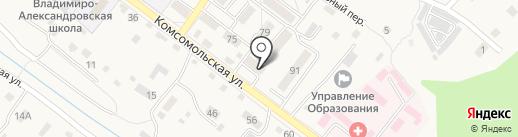 Санта на карте Владимиро-Александровского