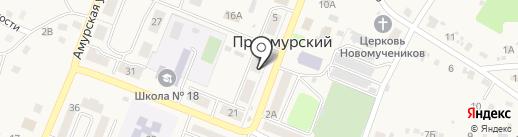 Планета на карте Приамурского