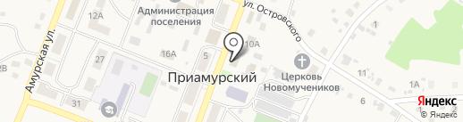 Тополек на карте Приамурского