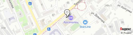 Арсеналец на карте Хабаровска