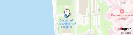 Открытый плавательный бассейн стадиона им. В.И. Ленина на карте Хабаровска