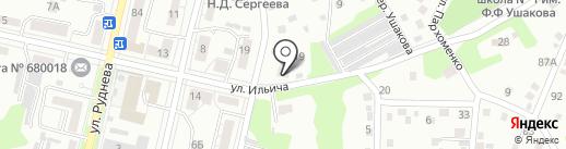 Кировская на карте Хабаровска