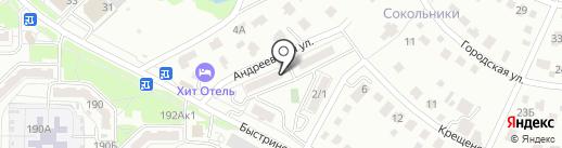 Берёзовый на карте Хабаровска