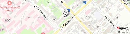 Пункт отбора на военную службу по контракту на карте Хабаровска