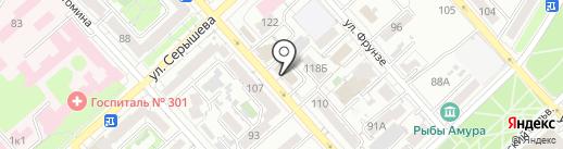 Служба заказчика по строительству и капитальному ремонту на карте Хабаровска
