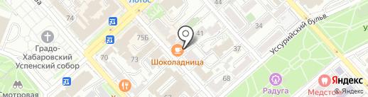 Дымовая шашка на карте Хабаровска