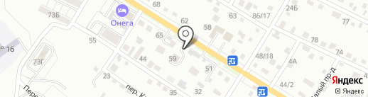 Силуэт на карте Хабаровска