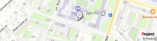 Дальневосточный государственный университет путей сообщения на карте Хабаровска