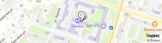 Континент ДВ на карте Хабаровска