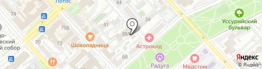 Цветочная на карте Хабаровска