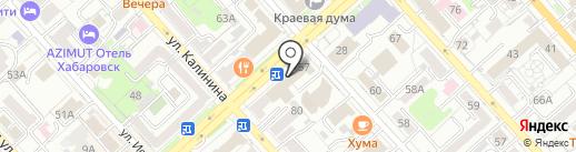 Уполномоченный по защите прав предпринимателей в Хабаровском крае на карте Хабаровска