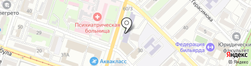 Aquarellia на карте Хабаровска