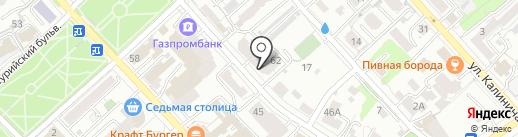 Паркет Мира на карте Хабаровска