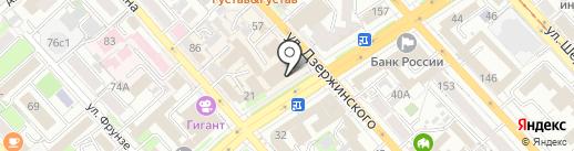 Шёлк на карте Хабаровска