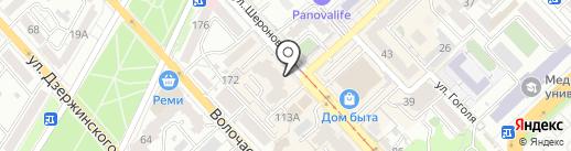 Бинбанк, ПАО на карте Хабаровска