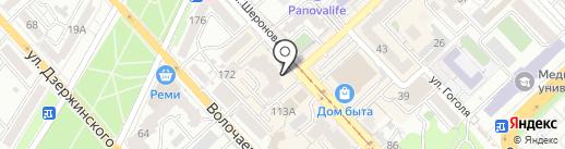 Корона на карте Хабаровска