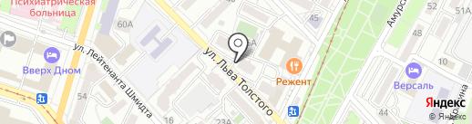 Командо на карте Хабаровска