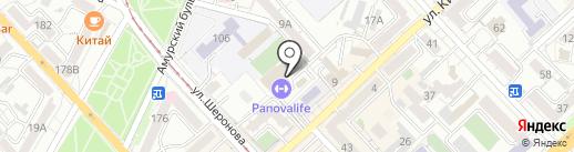 Глобал на карте Хабаровска