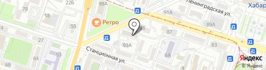 Корица на карте Хабаровска