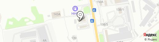 Интершины на карте Хабаровска