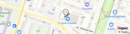 Азор на карте Хабаровска