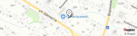 Пионов на карте Хабаровска