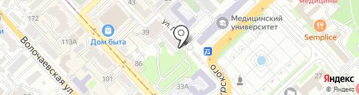 Osobenno на карте Хабаровска