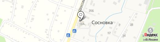 Продукты ночью на карте Сосновки