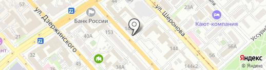 Управление по делам ГО, ЧС и пожарной безопасности Хабаровского края на карте Хабаровска