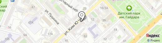 Рустим на карте Хабаровска