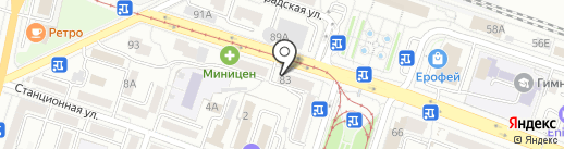 Сварожич на карте Хабаровска