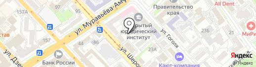 Небо на карте Хабаровска