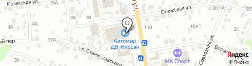 Автомир ДВ на карте Хабаровска