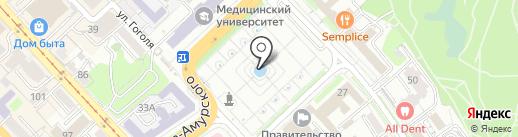 Алмара на карте Хабаровска